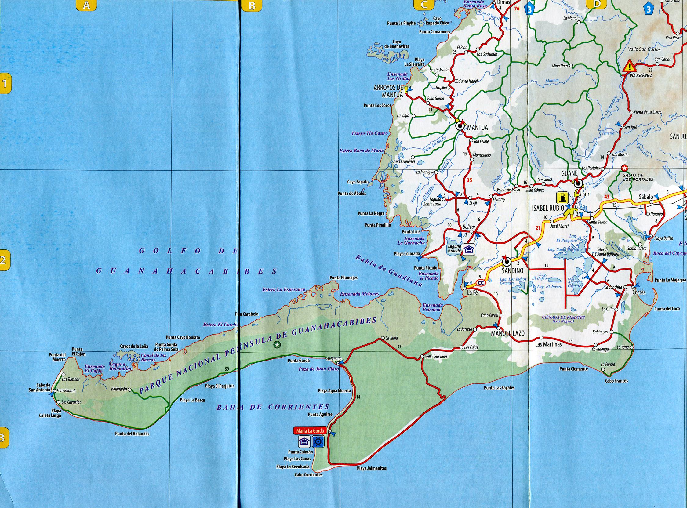 Lastumbas Picapica Road Map Guane Cuba Mappery