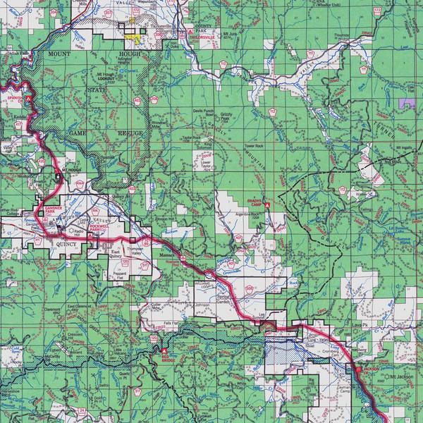 Lassen National Park Map Lassen National Park California Usa Mappery