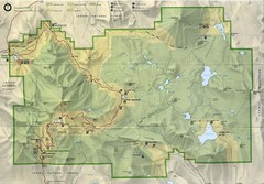 Lassen Volcanic National Park Map