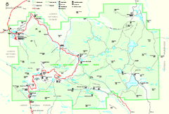 Lassen Volcanic National Park Official Park Map