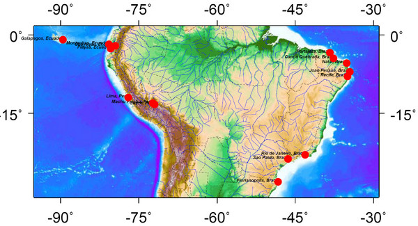 Latin America Climate Map