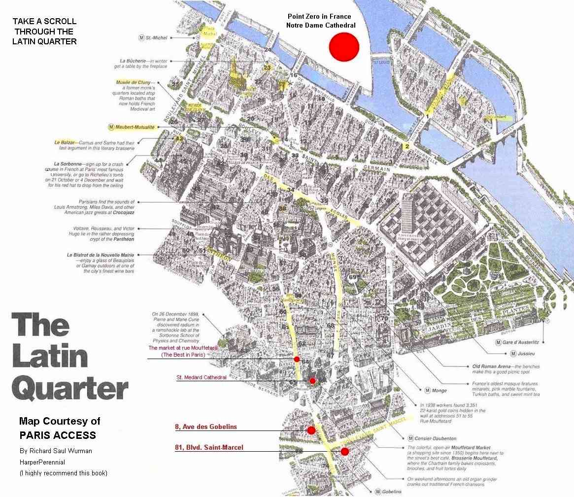 latin quarter paris tourist map latin quarter paris mappery