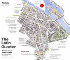Latin Quarter, Paris Tourist Map