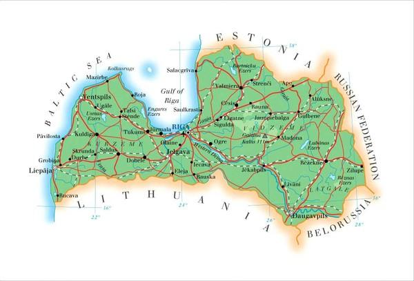 Latvia Map • mappery