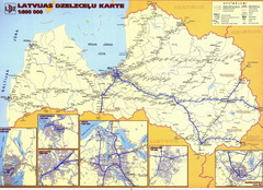 Latvia railroads Map
