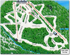 Laurel Mountain Ski Resort Ski Trail Map