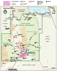 Lava Beds National Monument official park map