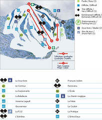 Le Chantecler Ski Trail Map