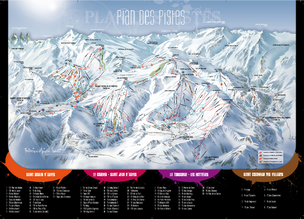 Le Corbier Ski Trail Map
