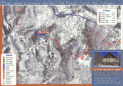 Le Fanget Ski Trail Map