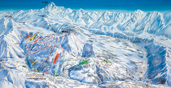 Le Grand Bornand Ski Trail Map