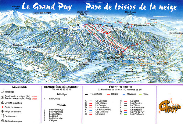 Le Grand Puy Ski Trail Map