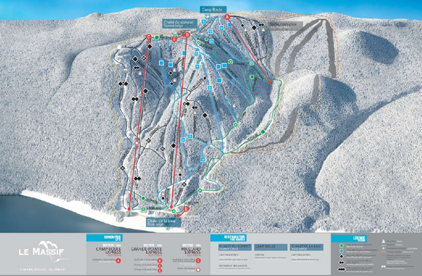 Le Massif Ski Trail Map