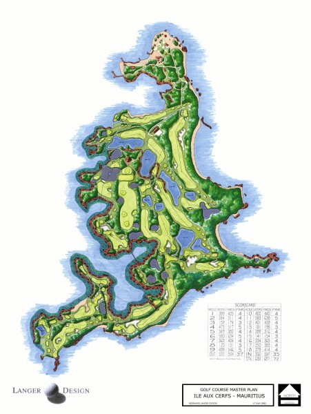 Le Touessrok Golf Course Map