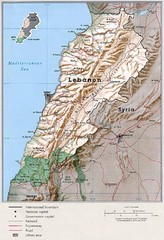 Lebanon Country Map