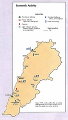Lebanon Economic Activity Map