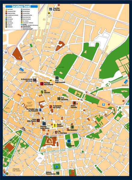 Lecce Tourist Map Lecce Italy mappery