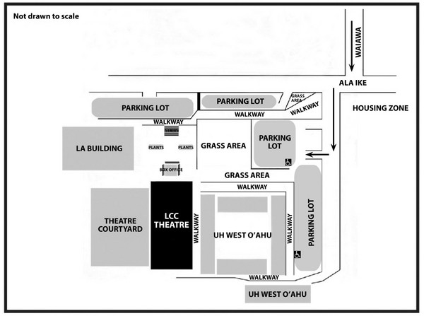 Honolulu Community College Campus Map.Leeward Community College University Of Hawaii Visitor Parking Map