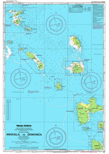 Leeward Islands Nautical Map