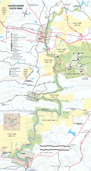 Lehigh Gorge State Park Map