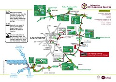 Leicester City Learning Centres Map