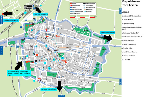Leiden Tourist Map Leiden The Netherlands mappery
