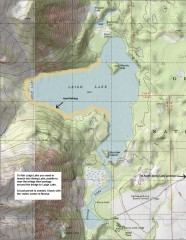 Leigh Lake Fishing Map