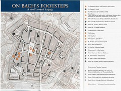 Leipzig Bach Tourist Map