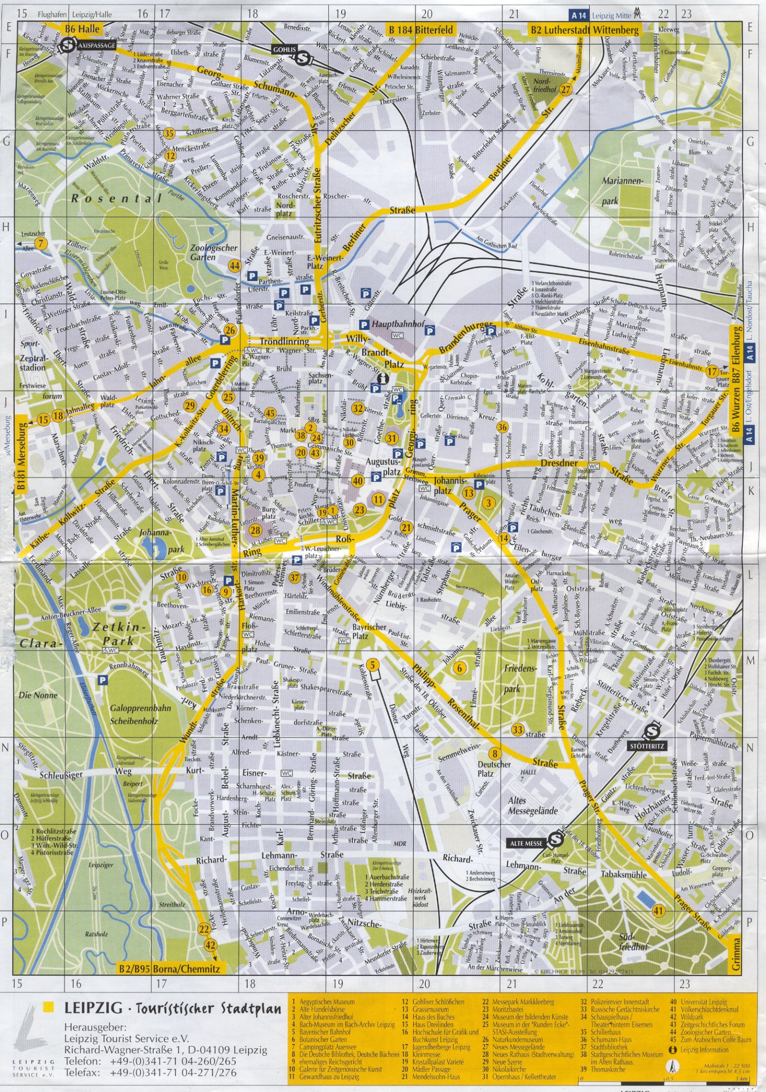 Leipzig Tourist Map - Leipzig Germany • mappery