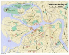 Leningrad City Tourist Map