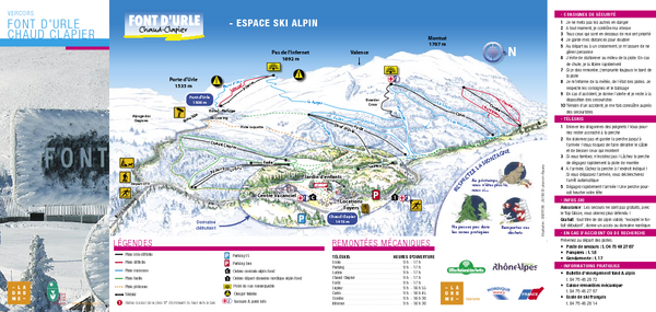 Lente Ski Trail Map