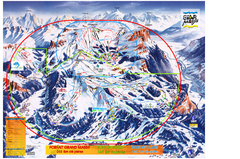 Les Carroz Ski Trail Map
