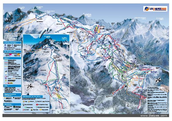 Les Deux Alpes Ski Trail Map Les Deux Alpes MontdeLans France