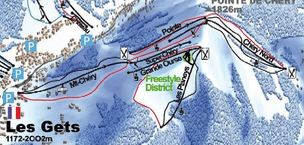 Les Gets Ski Trail Map