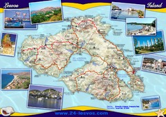 Lesvos (Lesbos) Tourist Map