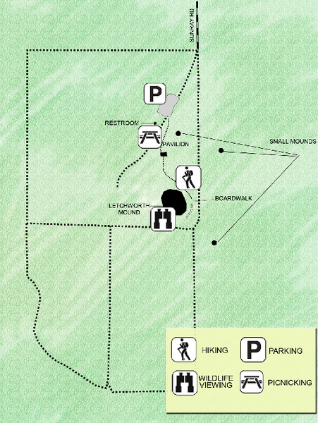 Letchworth-Love Mounds Map