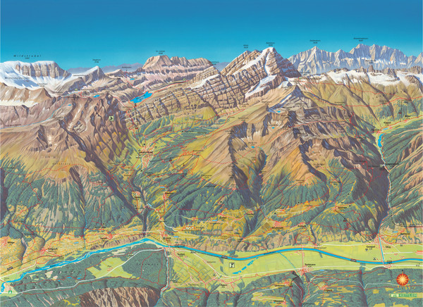 Leukerbad Summer Trail Map