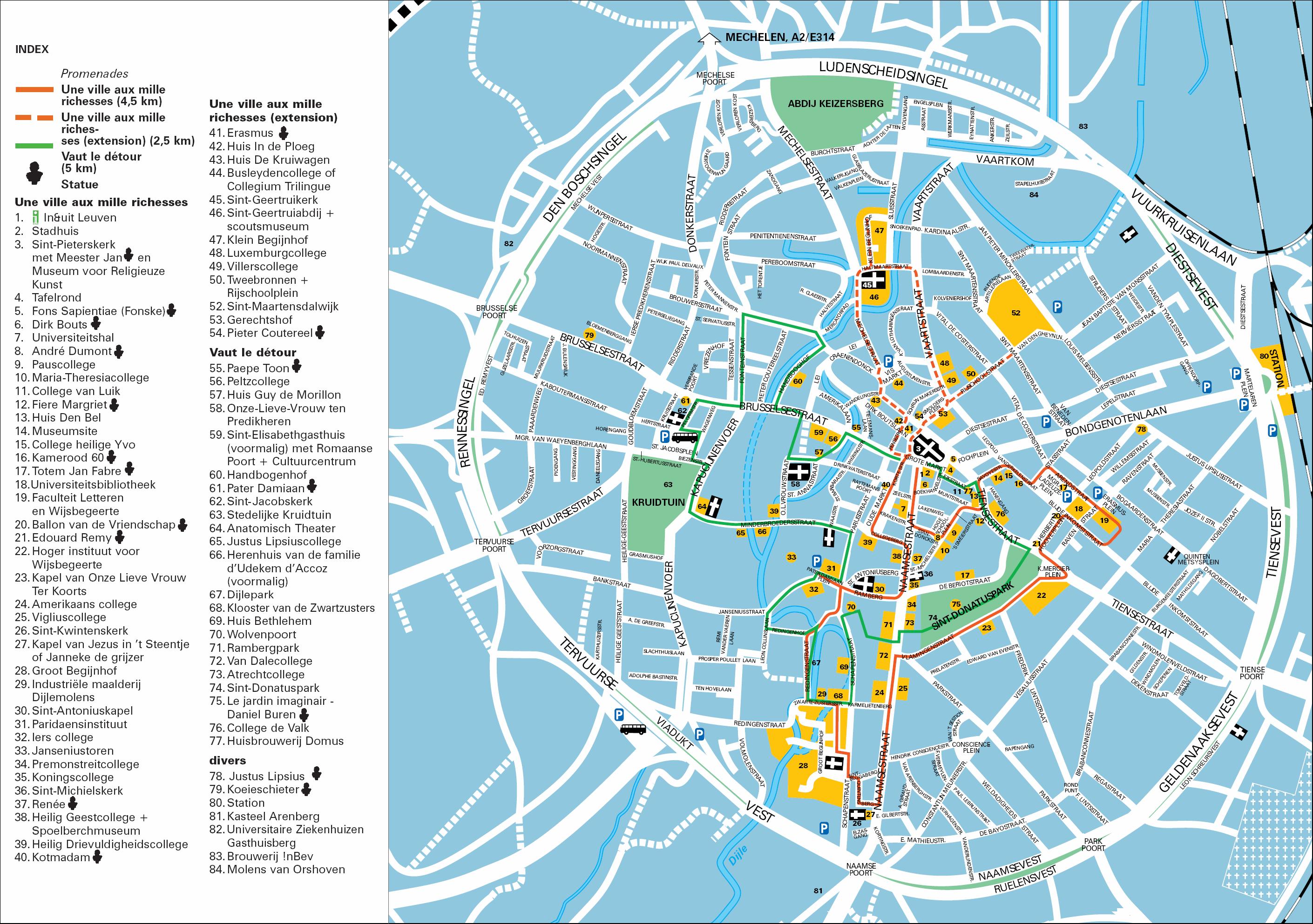Leuven Tourist Map Leuven Belgium mappery
