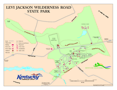 Levi Jackson Wilderness Road State Park Map