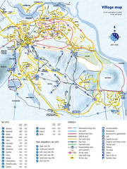 Levi Ski Trail and Village Map