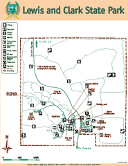 Lewis and Clark State Park Map