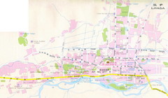 Lhasa City, Tibet Map