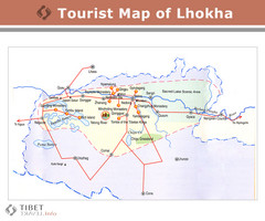 Lhokha Guide Map