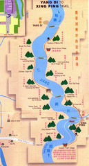 Li Jiang River Trekking Map