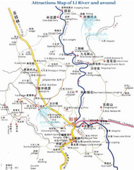 Li River Tourist Map