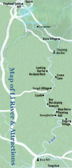 Li River and Attractions Map