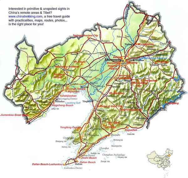Liaoning Tourist Map