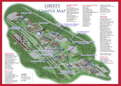 Lu Campus Map.Liberty University Map Lynchburg Virginia Mappery