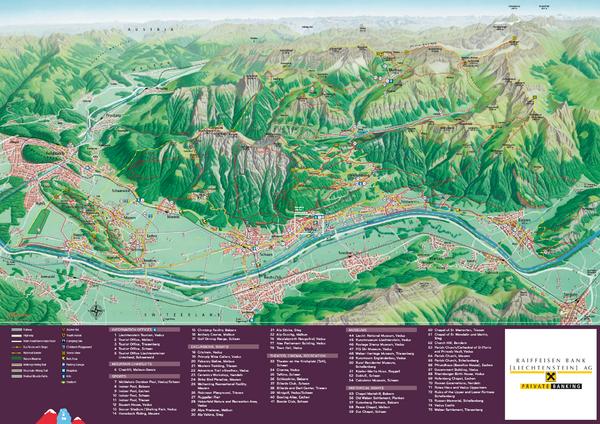 Liechtenstein tourist map liechtenstein mappery fullsize liechtenstein tourist map publicscrutiny Gallery