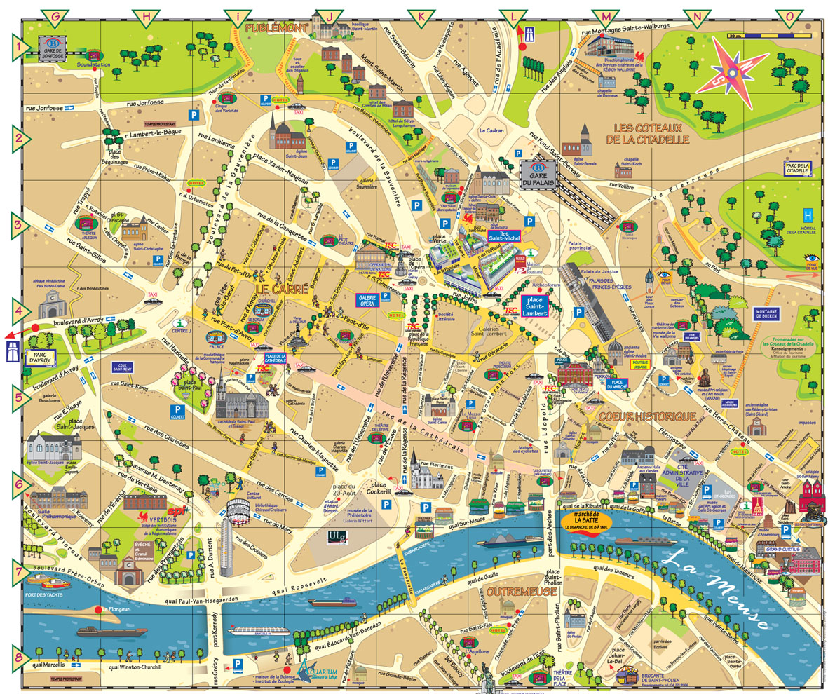 Liege City Center Map - Liege City Belgium • mappery